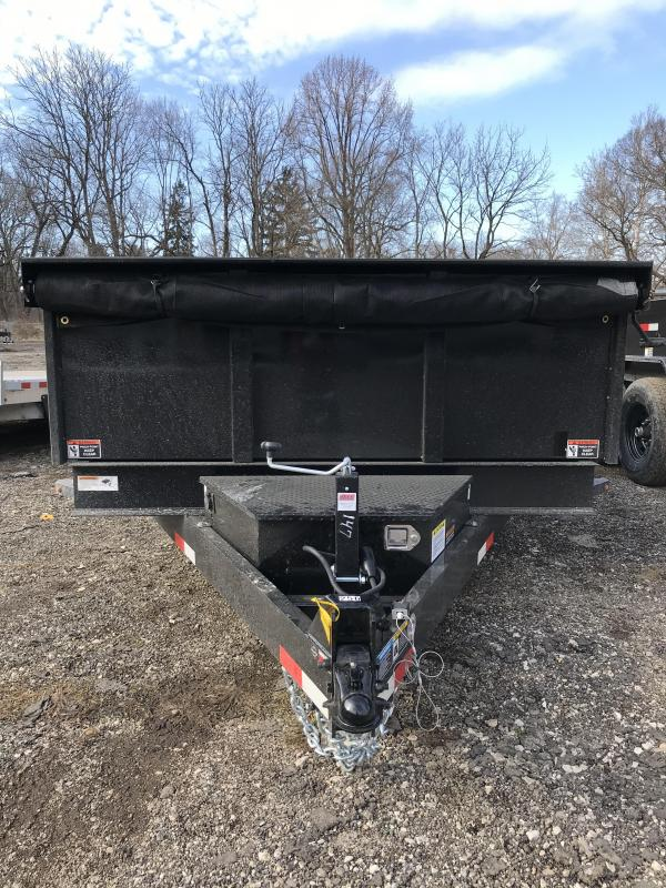 2021 H and H Trailer H8316DBW-B-140 Dump Trailer