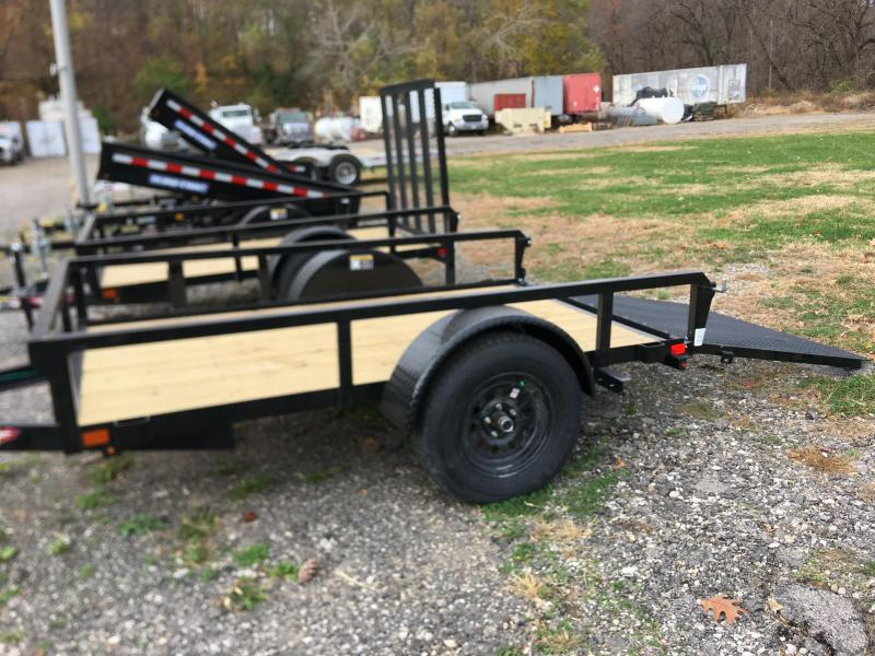 2021 H and H Trailer 60x8 Rail Side Utility