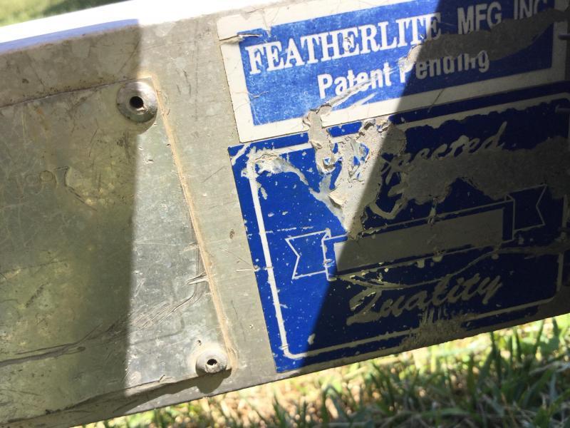 1998 Featherlite Tilt Snowmobile Trailer