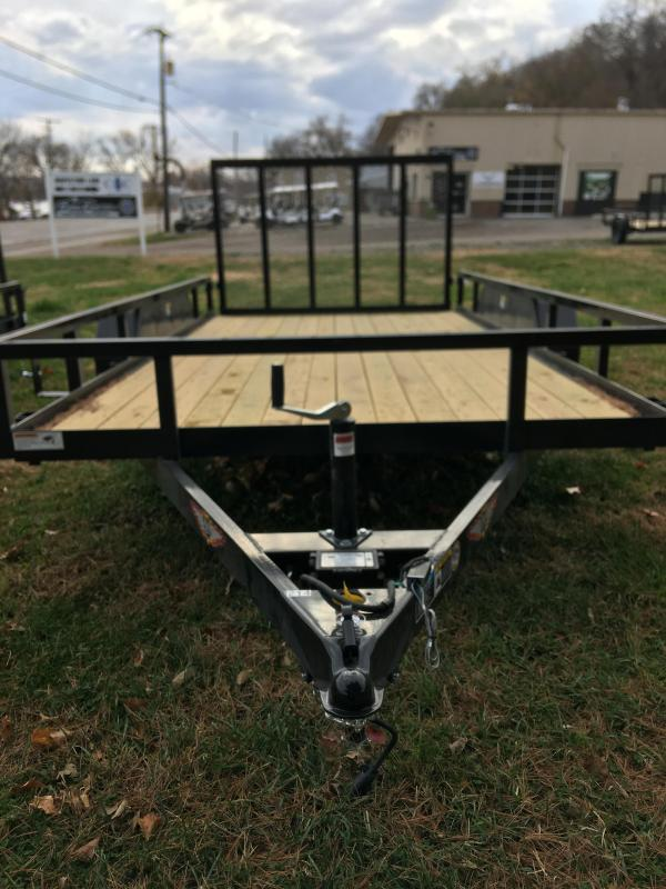 2021 H and H Trailer 82x14 Rail Side Utility Trailer 7K