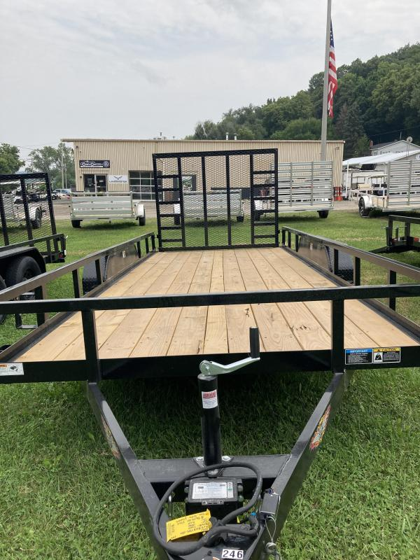 2021 H and H Trailer H8218TRS-070 Rail Side Utility Trailer