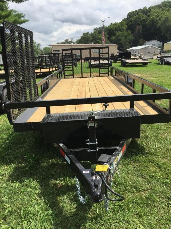 2020 H and H Trailer 7 x 18+2 Heavy Duty Utility Trailer 10K
