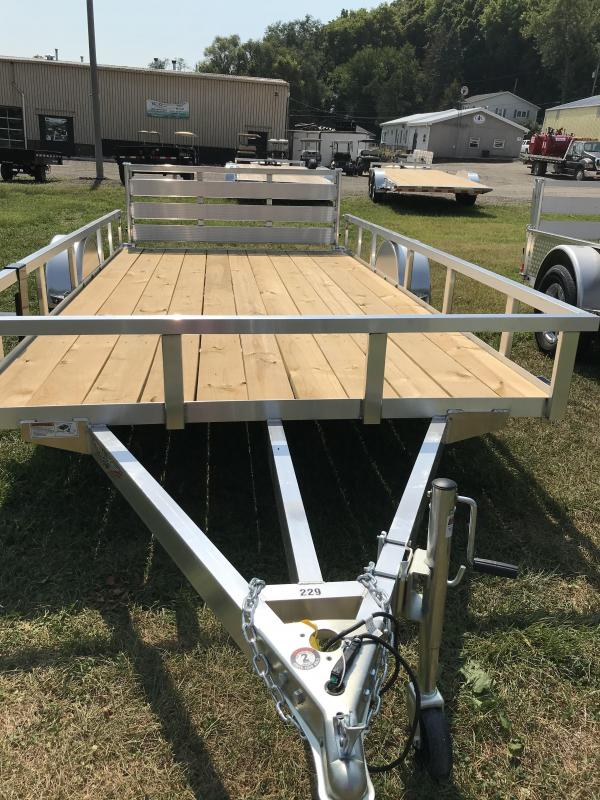 2020 H and H Trailer 82x14 Aluminum Rail Side Utility