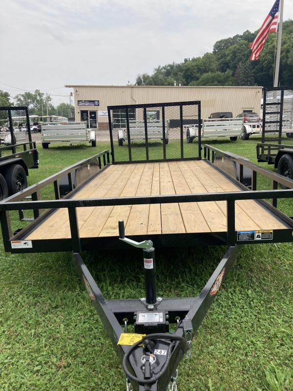 2021 H and H Trailer H8216TRS-070 Rail Side Utility Trailer