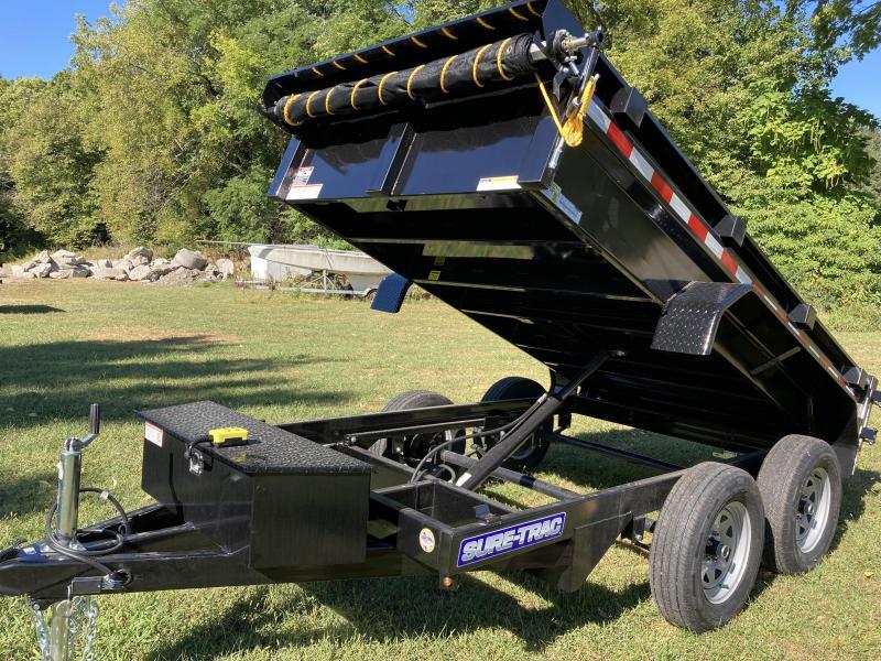 2022 Sure-Trac 5 x 10 Low Profile Homeowner Dump Trailer 7K Single Ram