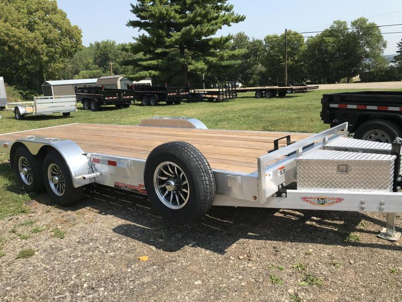 2020 H and H Trailer H8220EXA-100 Aluminum Electric Speedloader Car / Racing Trailer