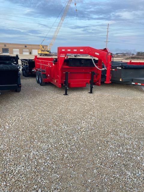 2021 14 foot bumper and GN Dump Trailer