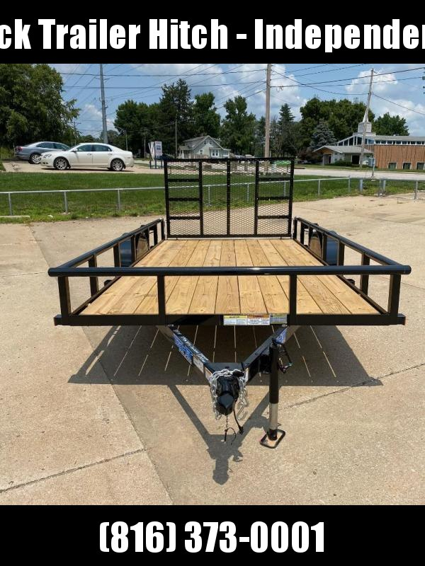 2021 Top Hat Trailers 83X14 Pipe Rail Top Utility Trailer