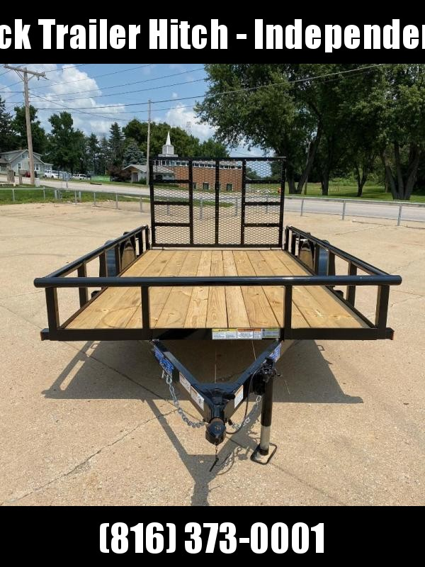 2021 Top Hat Trailers 77X12 Pipe Rail Top Utility Trailer