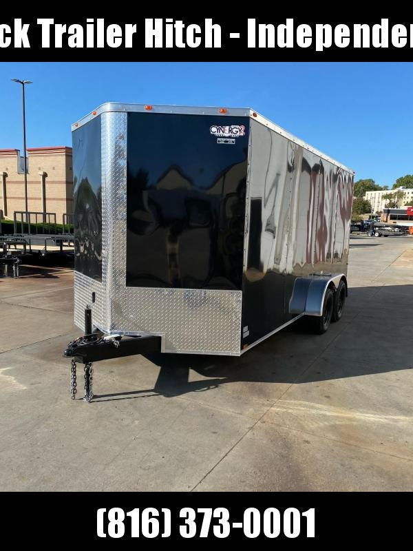 2021 Cynergy Cargo 7X16 RAMP DOOR BLACK Enclosed Cargo Trailer