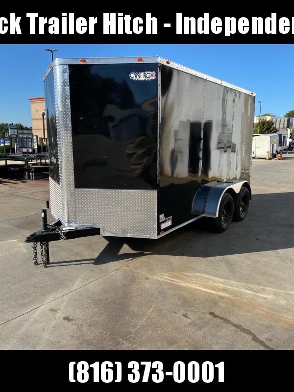 2021 Cynergy Cargo 7X12 RAMP DOOR BLACK Enclosed Cargo Trailer