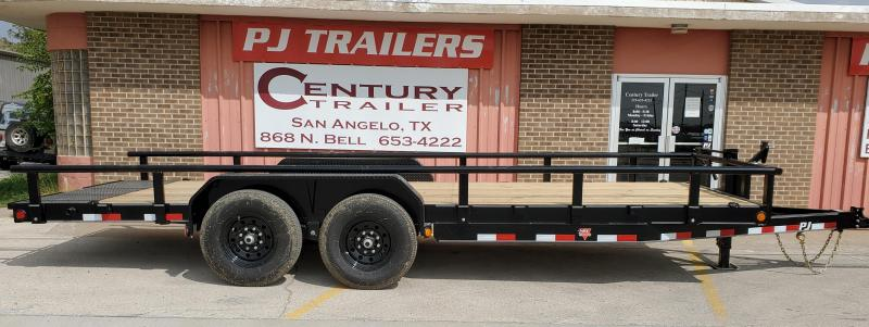 2021 PJ Trailers ccj2072bsrkmt Equipment Trailer
