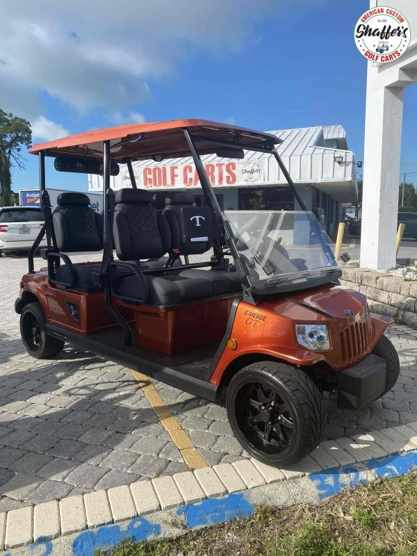 2021 Tomberlin Sedona Orange E-Merge GT 4 Golf Cart