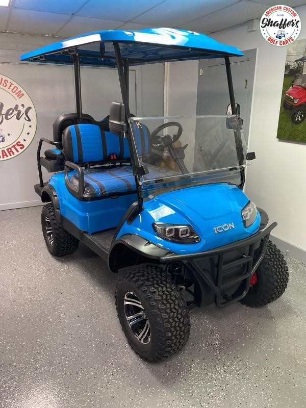 2020 ICON i40L Caribbean Blue Lifted Golf Cart