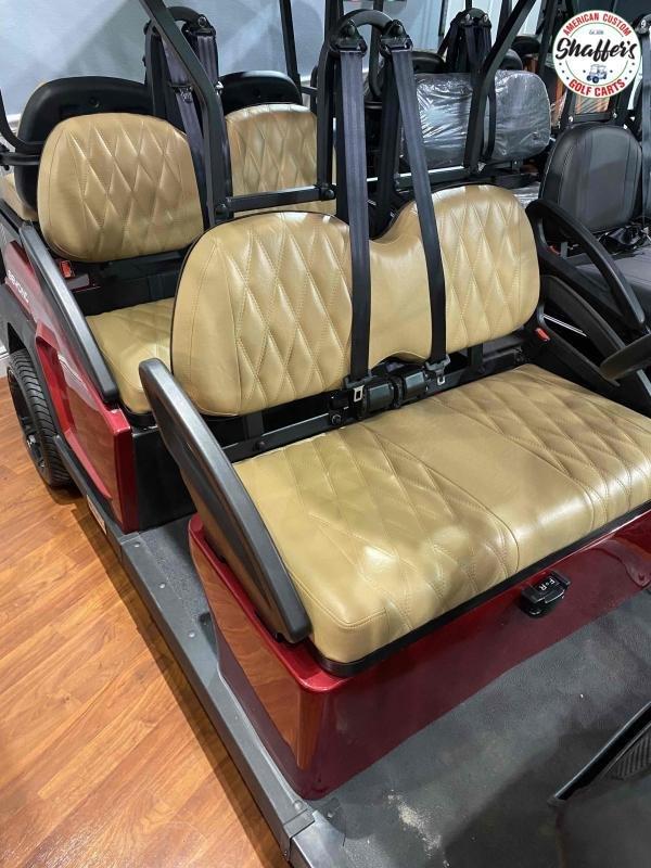2021 CUSTOM Bintelli Beyond Burgundy 6pr Golf Cart