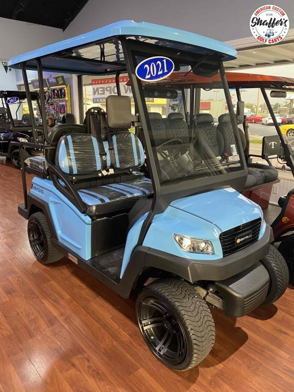 2021 Bintelli Beyond SKY Blue 4pr Golf Cart