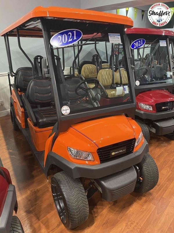 2021 CUSTOM Bintelli Beyond Orange 6pr Golf Cart