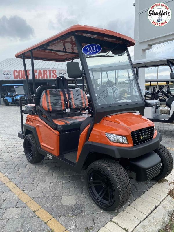 2021 Bintelli Beyond ORANGE 4pr Golf Cart