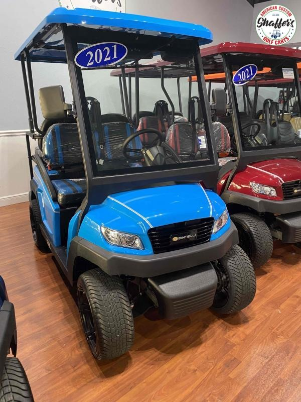 2021 Bintelli Beyond Ocean Blue 4pr Golf Cart