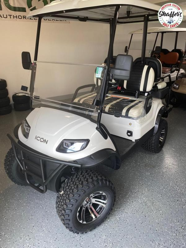 2021 White ICON i40L Lifted Golf Cart