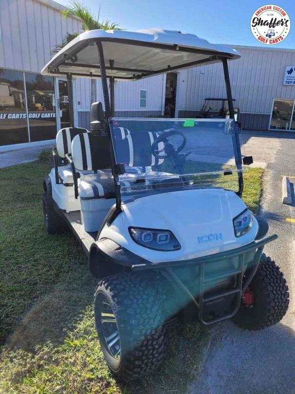 2021 White ICON i40FL 4 Passenger Forward Facing Lifted Golf Cart
