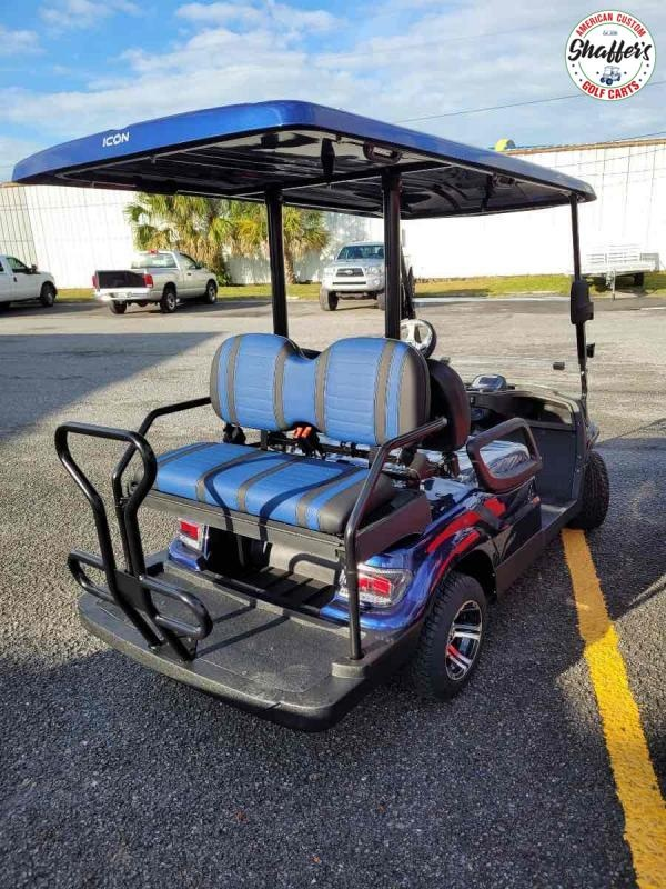 2020 INDIGO BLUE ICON i40 4 passenger Golf Cart