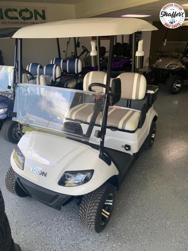 2020 ICON White i20 Golf Cart w Golf Pkg