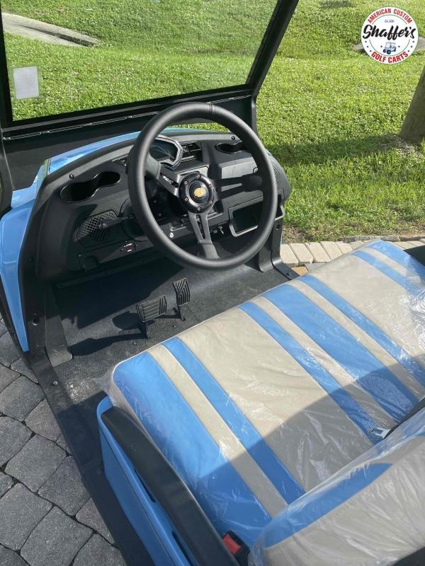 2021 Bintelli Beyond Sky Blue 6pr Golf Cart