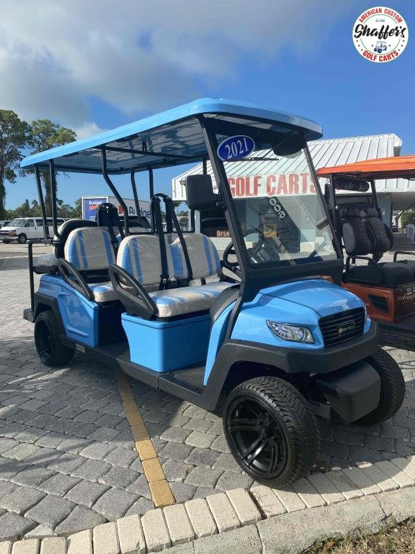 2021 Bintelli Beyond Sky Blue 6pr Golf Cart
