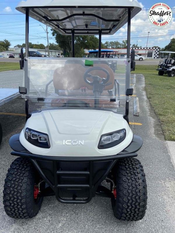 2021 White Icon i60L Lifted 6 passenger Golf Cart