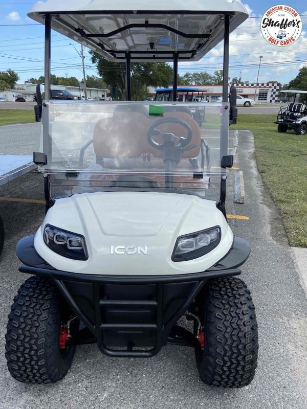 2021 White Icon i60L Lifted 6 passenger Golf Cart
