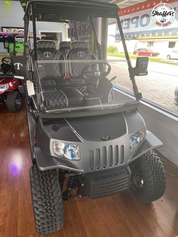2021 Tomberlin Matte Gray E-Merge E4 SS GHOSTHAWK  6 passenger Golf Cart