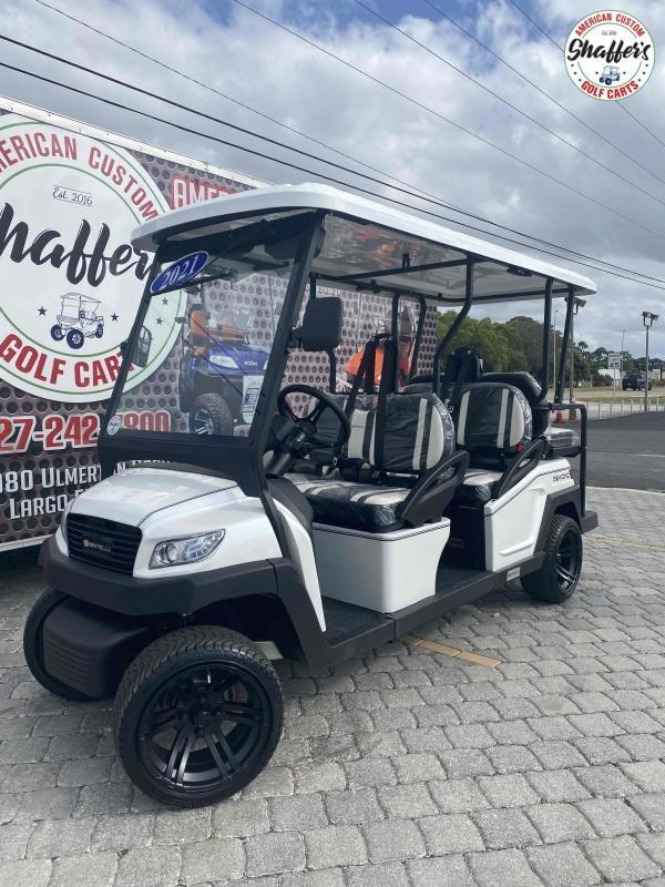 2021 Bintelli Beyond White 6pr Golf Cart