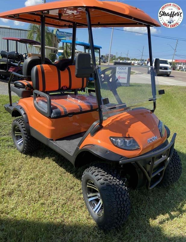 2021 Orange ICON i40L Lifted Golf Cart