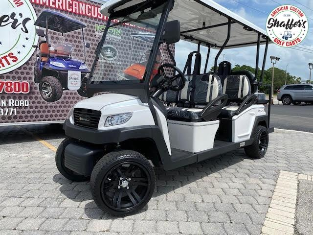 2021 Bintelli Beyond White 6pr Golf Cart