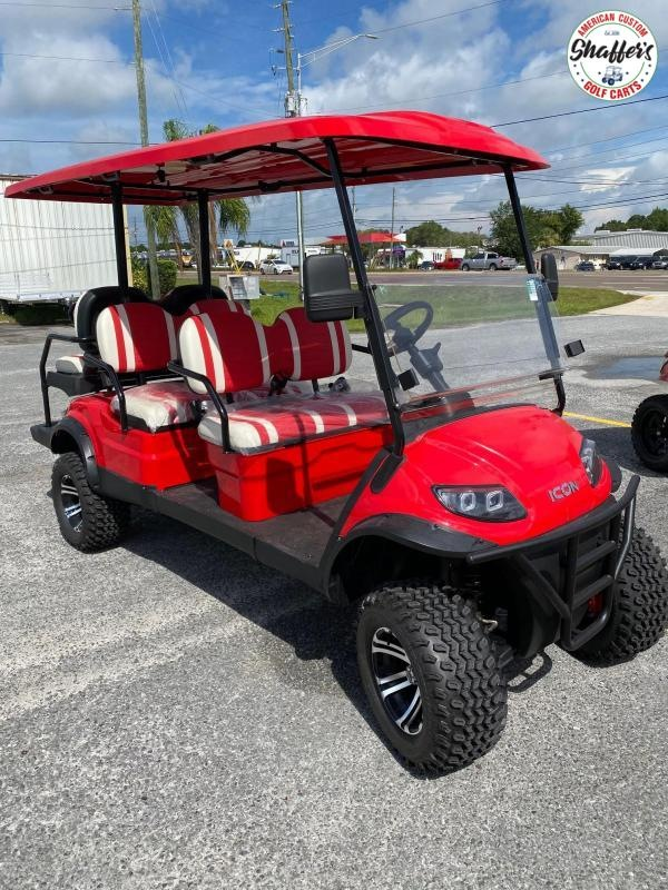 2020 ICON Red i60L Lifted 6 passenger Golf Cart