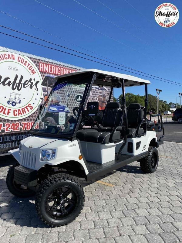 2021 Tomberlin Matte WHITE E-Merge E4 SS GHOSTHAWK  6 passenger Golf Cart