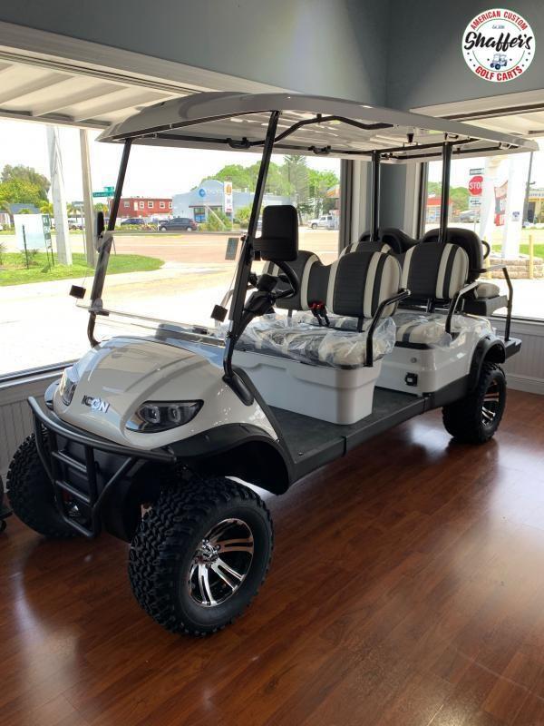 2020 ICON White i60L Golf Cart