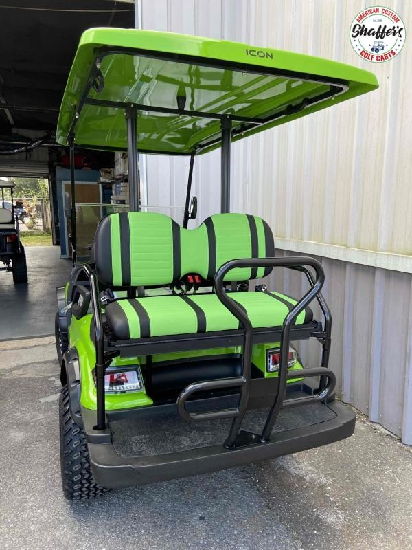 2021 LIME GREEN ICON i40L Lifted Golf Cart