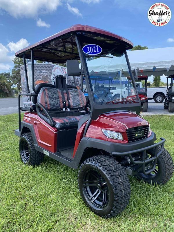 2021 Bintelli Beyond 4pr Burgundy LIFTED STREET LEGAL Golf Cart