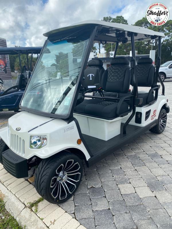 2021 Tomberlin Pearl White E-Merge E4 SS Saloon 4 passenger LSV Golf Cart