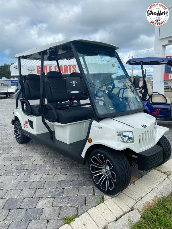 2021 Tomberlin Pearl White E-Merge E4 SS Saloon 4 passenger LSV Golf Cart