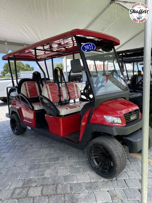 2021 CANDY RED Bintelli Beyond 6PR LSV Street Legal Golf Cart