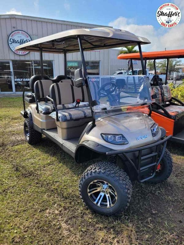 2021 ICON Champagne i60L Lifted 6 passenger Golf Cart