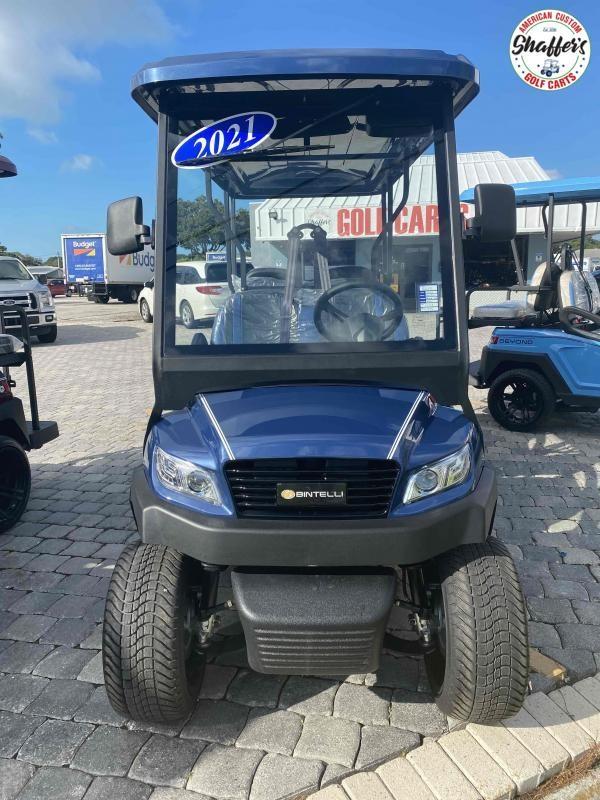 2021 Bintelli Beyond Navy Blue 6pr Golf Cart