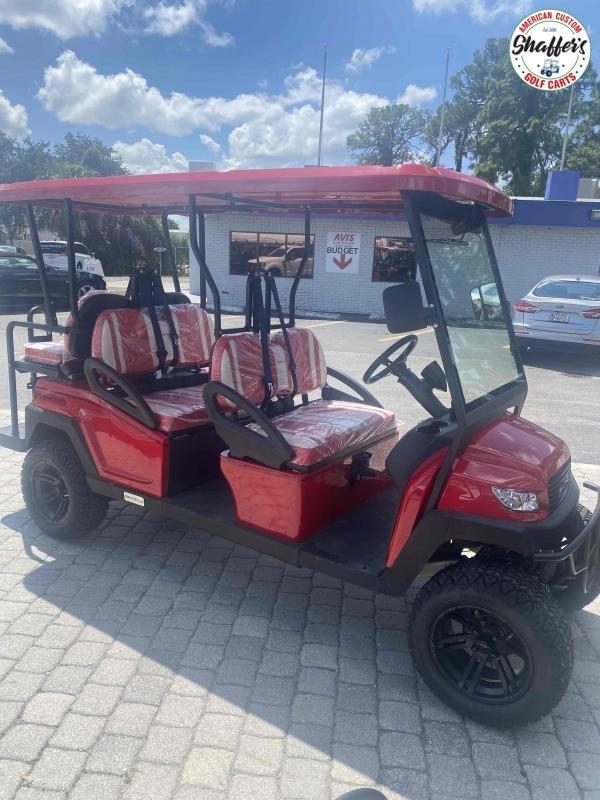 2021 Bintelli Beyond 6pr CANDY RED LIFTED Golf Cart