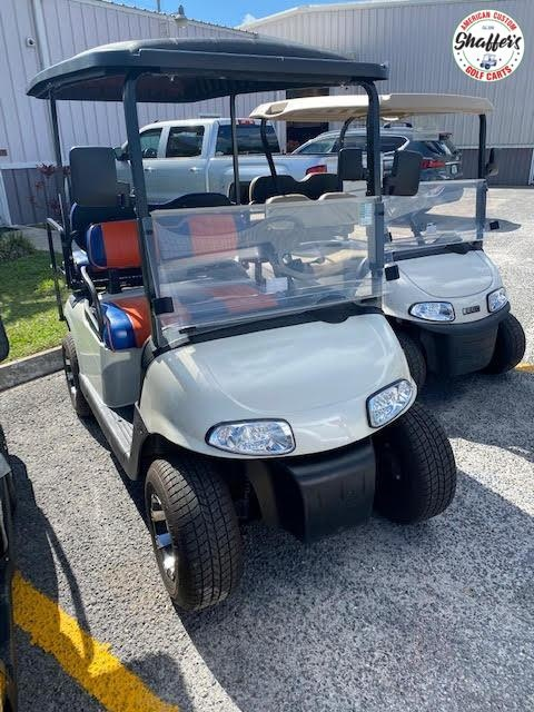 2018 Custom Pearl White EZ-GO gas engine RXV Golf Cart