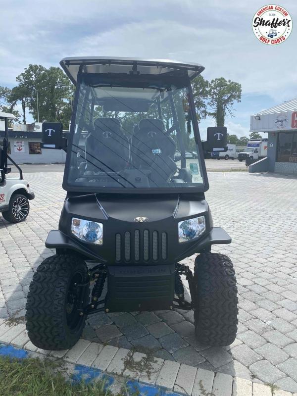 2021 Tomberlin Matte Black E-Merge E4 SS GHOSTHAWK 6 passenger Golf Cart