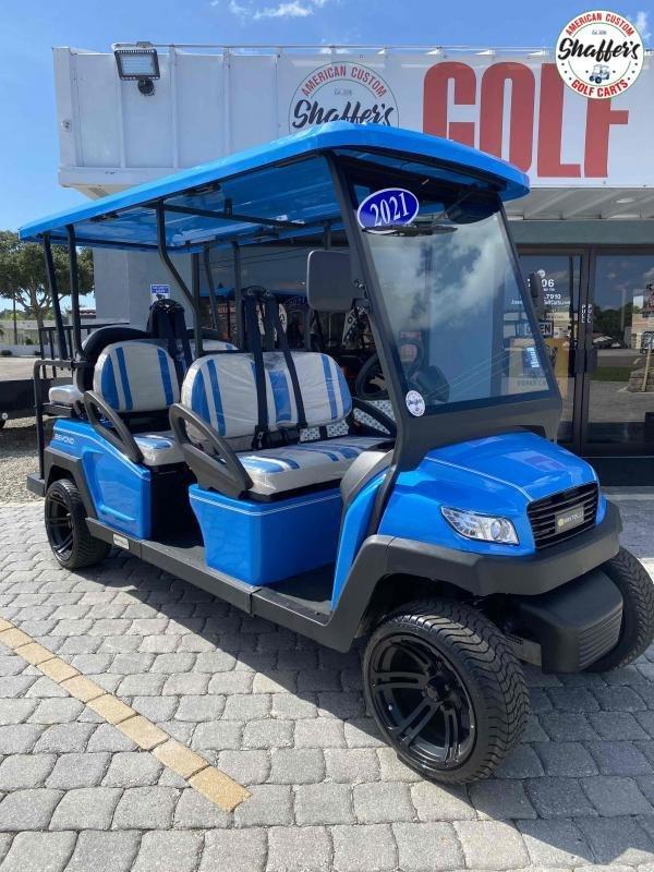 2021 Bintelli Beyond Ocean Blue 6pr Golf Cart