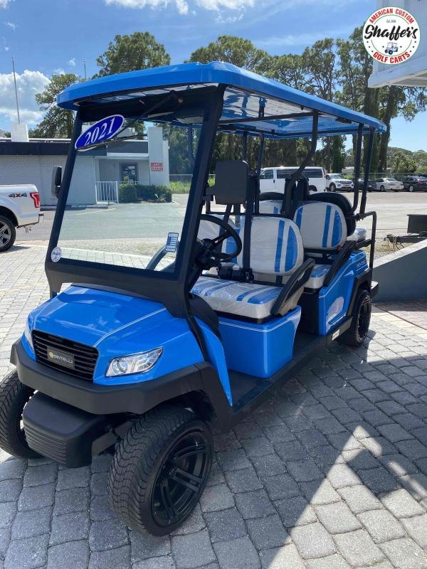 2021 Bintelli Beyond Ocean Blue 6pr Golf Cart